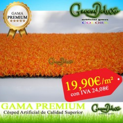 CESPED ARTIFICIAL NARANJA 12MM